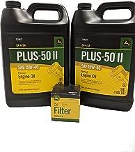 John Deere Original Equipment Oil Change Kit Filter and Oil - (1) M806418 + (2) Gallons 15W-40