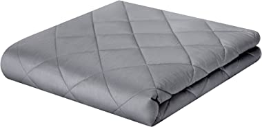 ZZZhen Weighted Blanket - High Breathability - 48''72'' 15LBs - Premium Heavy Blankets - Calm Sleeping for Ad