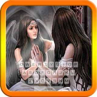 Angel in Mirror Keyboard Theme