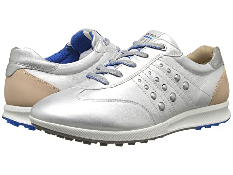Womens Shoes ECCO Golf Street EVO One Sport White/Buffed Silver