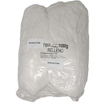 Relleno de guata blanca, bolsa de 1 kg, lavable hasta 30 °C. Fabricado en Francia: Amazon.es: Hogar