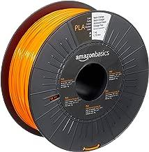 AmazonBasics - Filamento para impresora 3D, ácido poliláctico (PLA), 1,75 mm, cinta de 1 kg, naranja neón