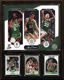 NBA Boston Celtics Bird-Havlicek-Russell Legacy Collection Plaque, 12 x 15-Inch, Brown