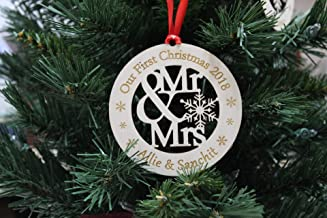 Personalized Ornament, Couples gift, Personalized Ornament, Our First Christmas, Christmas Ornament, Christmas Gift, Newlywed, First Christmas Ornament