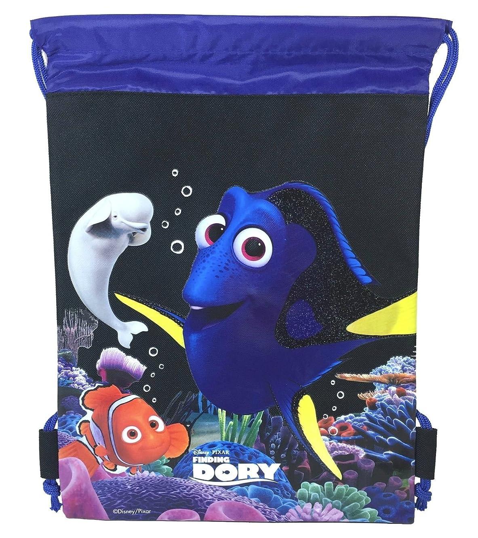 Finding Dory Nemo Drawstring Sling Bag Backpack (Black)