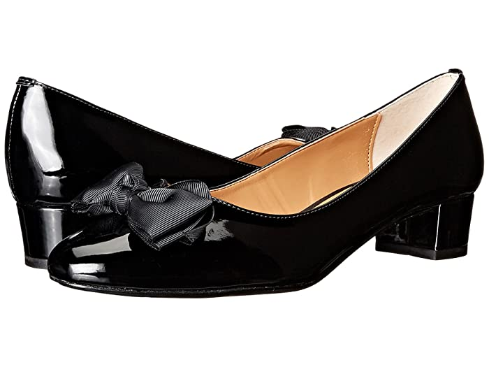 Edwardian Shoes & Boots | Titanic Shoes J. Renee Cameo Black Womens Wedge Shoes $89.95 AT vintagedancer.com