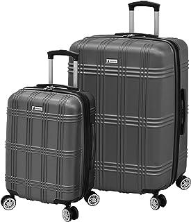 LONDON FOG Kingsbury Expandable Hardside Spinner Luggage, Titanium, 2-Piece Set (21/29)
