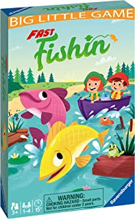 Ravensburger Fast Fishing Travel Game For Children Ages 4 Years and Up