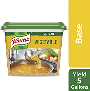 Knorr Professional Ultimate Vegetable Stock Base Vegan, Gluten Free, No Artificial Colors, Flavors or Preservatives, No added MSG, 1 lb, Pack of 6