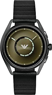 Emporio Armani Men's Stainless Steel Plated Touchscreen Smartwatch, Color: Gunmetal (Model: ART5009)