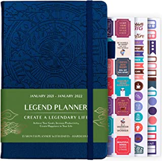 $24 » Sponsored Ad - Legend Planner Jan 2021 - Jan 2022 Dated Weekly & Monthly Planner to Hit Your Goals, Increase Productivity ...
