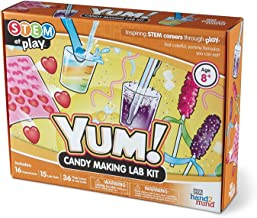 YUM! Candy Making Science Kit for Kids (Ages 8+) - Build 16+ STEM Career Experiments & Activities | Make Edible Candy, Gummy Worms, Rock Candy, & More | Educational Toys | STEM Authenticated