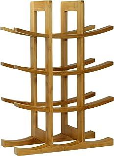 Oceanstar WR1149 12-Bottle Natural Bamboo Wine Rack