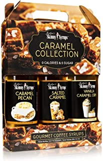 Jordan's Skinny Mixes Jordan's Skinny Syrups Caramel Collection Syrup Trio, Sugar Coffee Free Flavoring Syrup, 12.7 Ounce ...