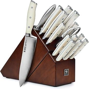 Amazon Com Wusthof Gourmet Knife Block Set 16 Piece White Kitchen Dining