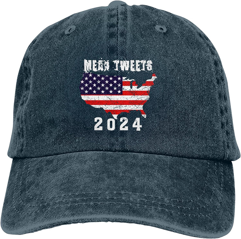 Mean Tweets 2024 Hat Funny Baseball Cap Unisex Four Seasons Hat Washable Adjustable Trucker Cap