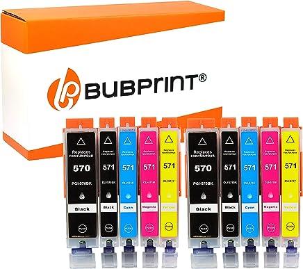 Bubprint 10 Druckerpatronen kompatibel für Canon PGI-570XL CLI-571XL für Pixma MG5750 MG5751 MG7750 TS5050 TS5051 TS6050 TS6051 TS8050 TS8051 TS9050