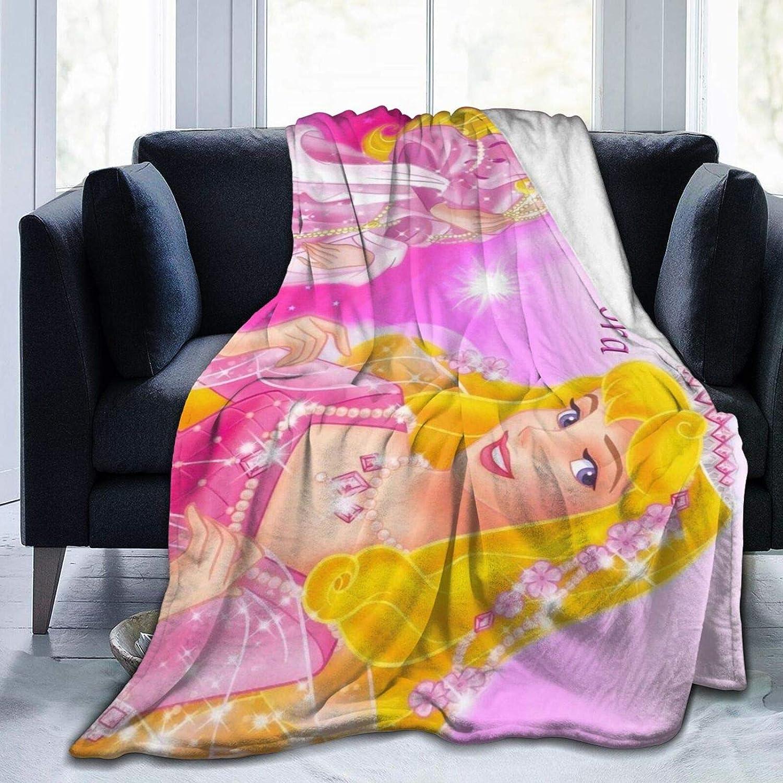 Talcholar Sleeping Inventory cleanup Sales selling sale bea-uty Princess Aurora Fleece Throw Bla Soft