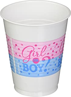 Amscan Girl or Boy Plastic Cups - Multi Color