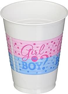 Amscan Girl or Boy Plastic Cups