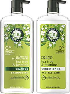 Sponsored Ad - Herbal Essences, Clarifying Shampoo and Purifying Conditioner, Tea Tree and Jasmine, 20.2 Fl Oz Bundle