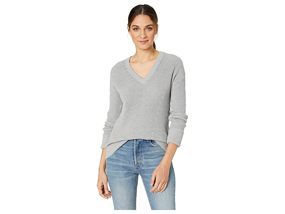 kensie Cotton Blend Sweater KS1K5928 (Heather Grey Dusk) Women