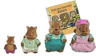 Li'l Woodzeez 6008M Li'l Woodzeez - Juego de 5 Piezas con Figuras en Miniatura y Libro de Cuentos - Juguetes de Animales y Accesorios para niños a Partir de 3 años, Multi
