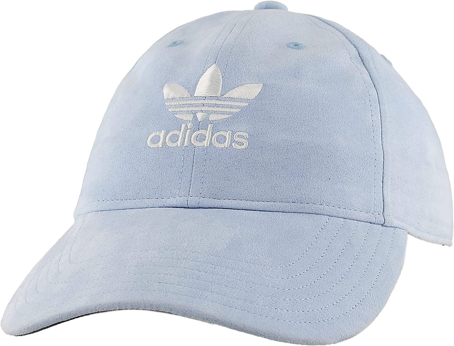 adidas Originals Women's Relaxed Plus Strapback Cap, Aero Blue Suede/White, ONE SIZE : Clothing, Shoes & Jewelry