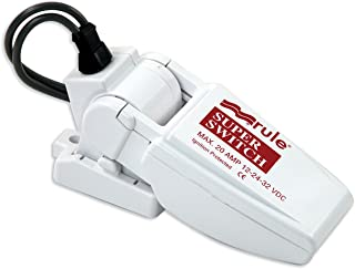 Rule SuperSwitch Float Switch, Moisture Tight Seals,12, 24 or 32 Volt