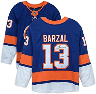Mathew Barzal New York Islanders Autographed Blue Fanatics Breakaway Jersey with