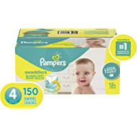 150 Count Pampers Swaddlers Disposable Baby Diapers (Size 4)