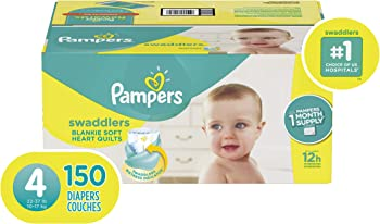 150-Count Pampers Swaddlers Disposable Baby Diapers (Size 4)