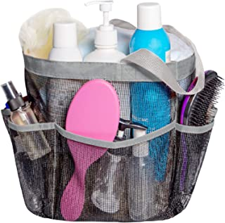 Attmu Mesh Shower Caddy, Quick Dry Shower Tote Bag Oxford Hanging Toiletry and Bath Organizer with 8 Storage Compartments ...