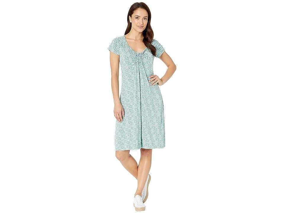 Fresh Produce Tidepool Geo Emma Dress (Lagoon Green) Women