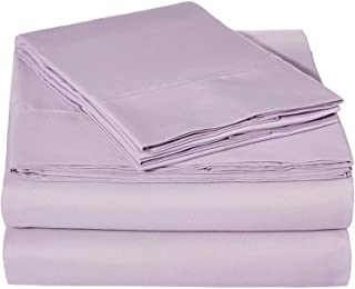 Ruthy's Textile Bed Sheet Set - Hotel Luxury Brushed Microfiber 1800 Bedding - Wrinkle, Fade, Stain Resistant - Hypoallergenic, Soft - Deep Pockets Sheets & Pillow Case Set - 3 Piece (Lavender, Twin)