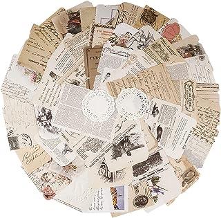 52pcs Autocollants de Scrapbooking Rétro Gommettes étiquettes, Stickers Vintage Scrapbooking DIY Album Photo pour Journal ...
