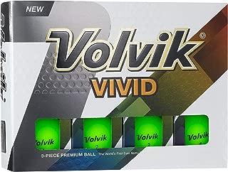 Volvik Vivid Matte Finished Colored Golf Balls (One Dozen)