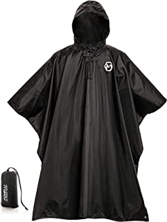 black military poncho