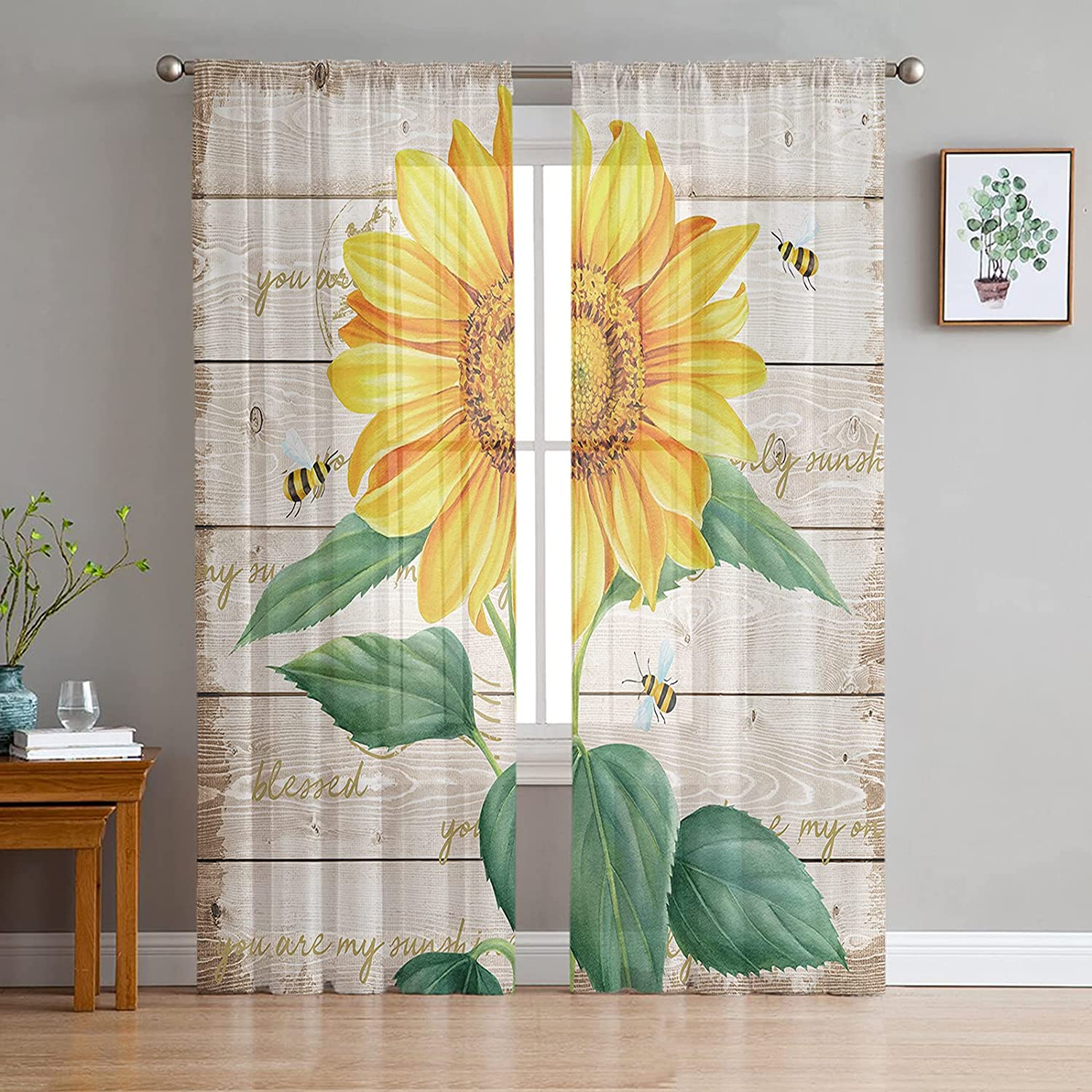 Finally resale start 2021new shipping free shipping Sheer Voile Chiffon Window Curtains Soft Wrinkle Fre with Touch
