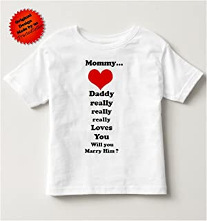 b9685365a Mommy will you marry me daddy sweet way propose shirt tshirt 2t 3t 4t 5t (