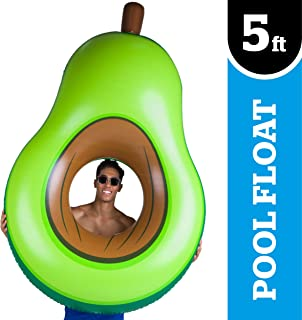 BigMouth Inc Giant Inflatable Avocado Pool Float, Durable Fun Pool Tube with Patch Kit Included