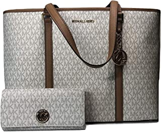 61dff6cfb430a9 MICHAEL Michael Kors Sady Large MF TZ Tote bundled with Michael Kors Fulton  Flap Continental Wallet