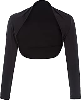 Women's Vintage Bolero Shrug Open Front Long Sleeve Crop Tops