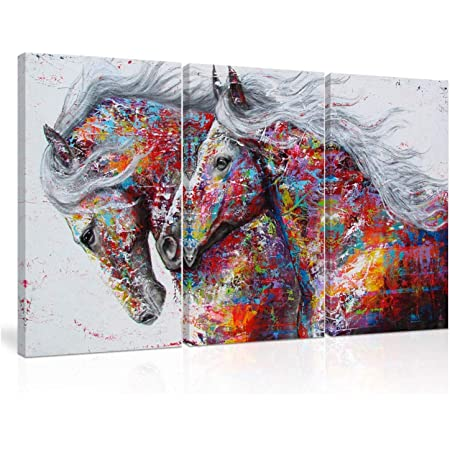Fajerminart Canvas Painting Horse Abstract Art Stretched Canvas Oil Painting Ready To Hang Wall Picture Canvas Painting Art Poster Wall Picture For Living Room Home Decoration 70x140cm No Frame Amazon Co Uk Kitchen