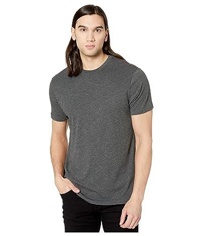 RVCA Solo Label Short Sleeve T-Shirt (Black/Red) Men