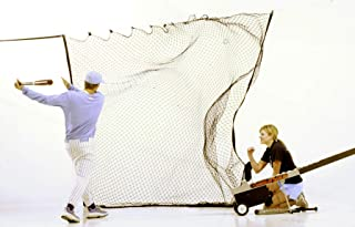 The Zip Net Extra Large Sports Backstop Net for Baseball, Soccer, Tennis, Football for Hitting, Goals, Practice