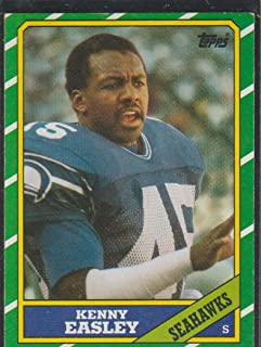 1986 Topps Kenny Easley Seahawks Football Card #211