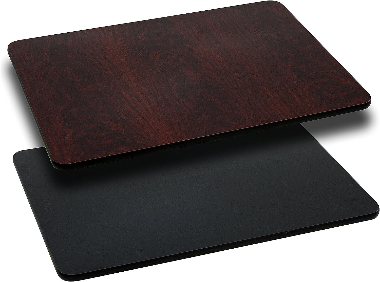 Flash 24 x 30 Rectangular Resin Walnut Table Top
