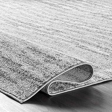 "nuLOOM Sherill Ripple Modern Abstract Living Room or Bedroom Area Rug, 6' 7"" x 9', Grey"