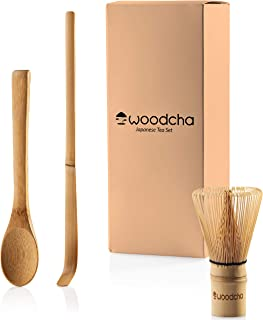 Matcha set included matcha whisk (Chasen) matcha scoop (Chashaku) and matcha spoon Traditional Handmade matcha starter kit easy turns organic matcha green tea powder into ceremonial matcha tea